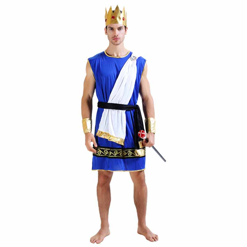 Ancient Roman Warrior Costume For Men Halloween Costume Adult Women Greek Goddess Cosplay Costume Adult Fancy Dress Outfit