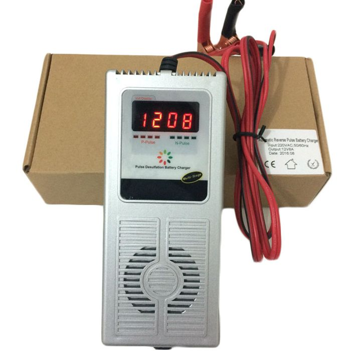 Intelligent 12V 8A Car e-bike Scooter Battery Charger 7-stage Negetive Pulse Desulfator & Maintainer Charger