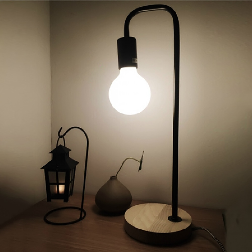 Simple Desk Lamps In Modern Wood Metal Edison Table Lamps For Study Room Bedroom China