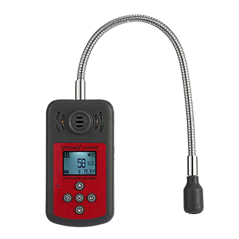 UYIGAO UA9800B Brand New Handheld Portable Automotive Mini Combustible Gas Detector Gas Leak Location Determine Tester with LC uyigao ua506 brand new handheld portable meter for ppm htv digital formaldehyde test methanol concentration monitor detector w