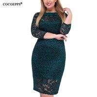 5151dcbf9bc8cf 5XL 6XL 2019 Spring Plus Size Women Lace Dress Fashion Big Size Dress Large  Size Elegant
