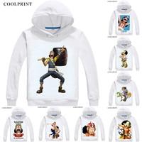 COOLPRINT ONE PIECE Hoodies Anime Hoodie Manga Wan Pisu Straw Hat Pirates Usopp Sogeking King Snipers Usoppu Cosplay Sweatshirts