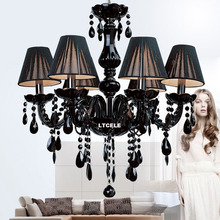 Современные хрустальные люстры светильники потолочные блеск пункт кварто Черный Led Хрустальная Люстра Для гостиной Спальня Кухня