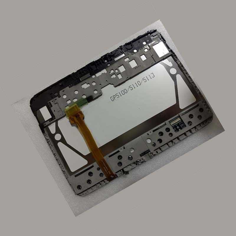 لسامسونج غالاكسي تبويب 3 GT-P5210 P5210 P5200 شاشة الكريستال السائل لوحة رصد وحدة + مجموعة المحولات الرقمية لشاشة تعمل بلمس مع الإطار
