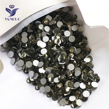 YANRUO 2058NoHF SS16 Black Diamond 1440Pcs Crystal Stone Flat Back Strass Non Hotfix Nail Art Stick On Rhinestones DIY