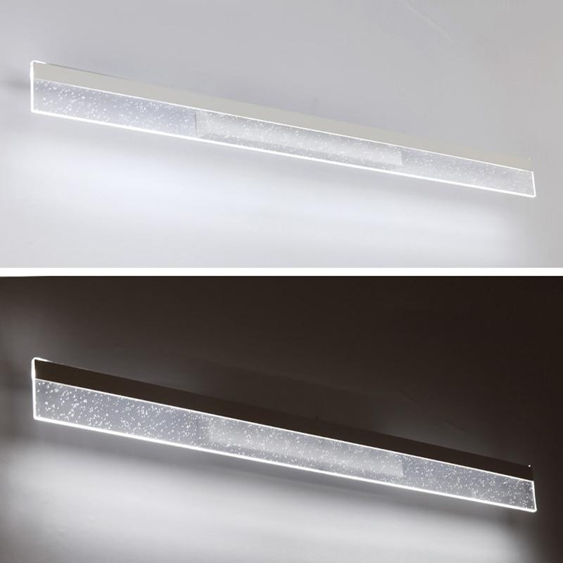 цена на Longer LED Mirror Light 8W 40cm 24W 120cm AC 90-260V Modern Cosmetic Acrylic Wall lamp Bathroom Lighting Waterproof