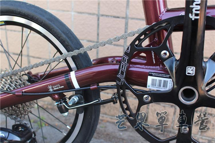 "HTB1LBqJXUrrK1RkSne1q6ArVVXaP Fnhon CR-MO Steel Folding Bike 16"" Minivelo Mini velo 9 Speed Bike  Bicycle overall bike V Brake"