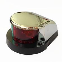 مصباح إشارة ثنائي اللون لليخت بالقارب البحري مكون من قطعة واحدة مصباح الملاحة مزود بفيونكة LED 12 فولت