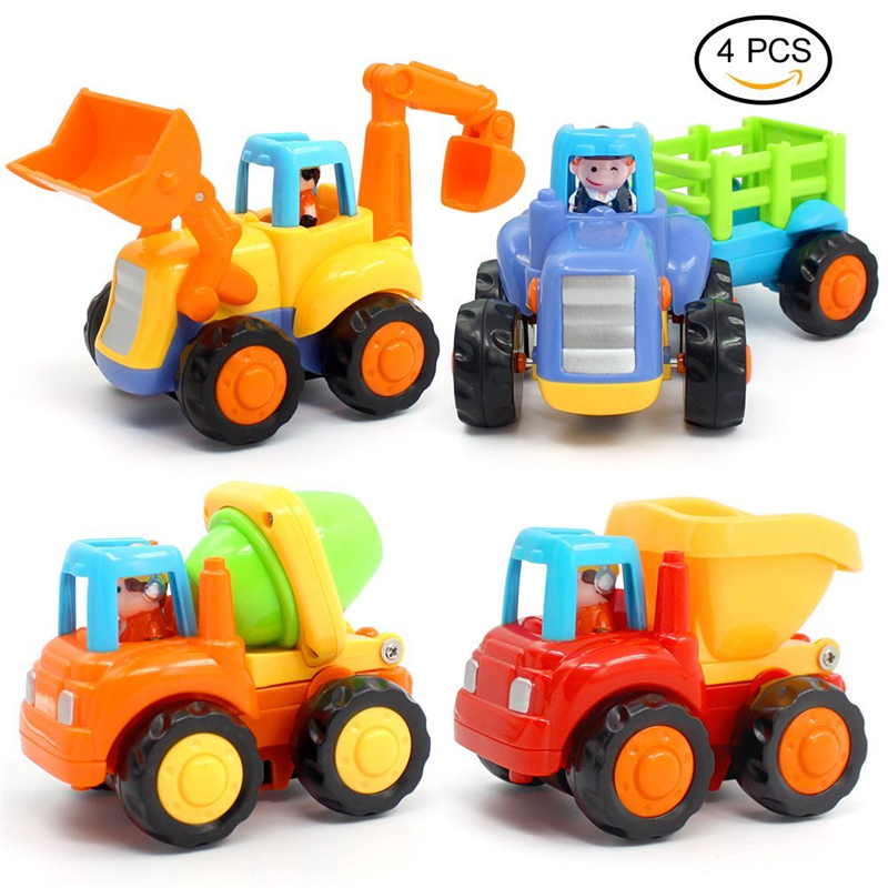 Toy Trucks for Toddlers 4 Variant Toy Vehicles