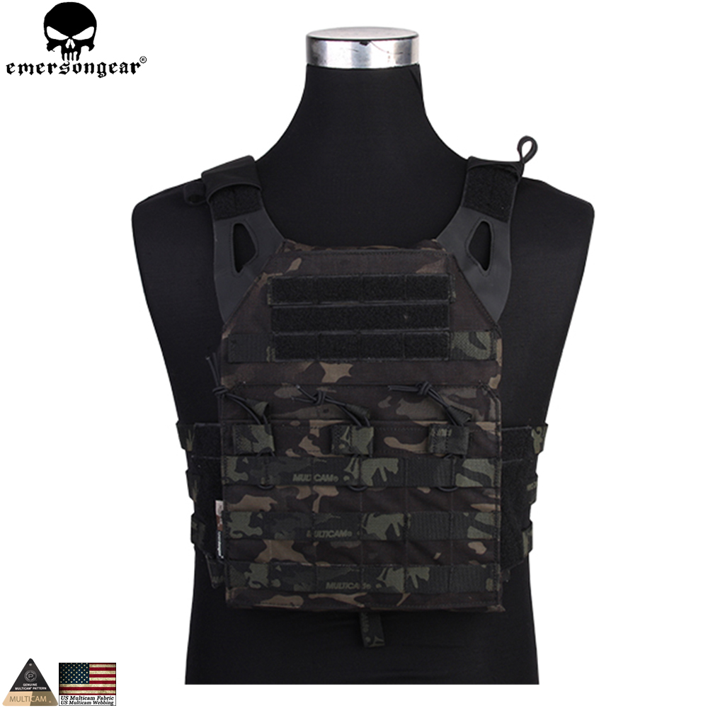 EMERSONGEAR JPC Vest LightWeight MOLLE Special Plate Carrier Hunting Easy Vest for Paintball Airsoft emerson 500D Multicam Black emersongear tactical vest cp style lightweight avs vest airsoft combat paintball hunting molle plate carrier vest em7398