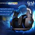 KOTION CADA G2000 Over-ear Juego esports Gaming Headset Auriculares Auriculares Diadema con Micrófono Estéreo Bajo de Luz LED para Juego de PC