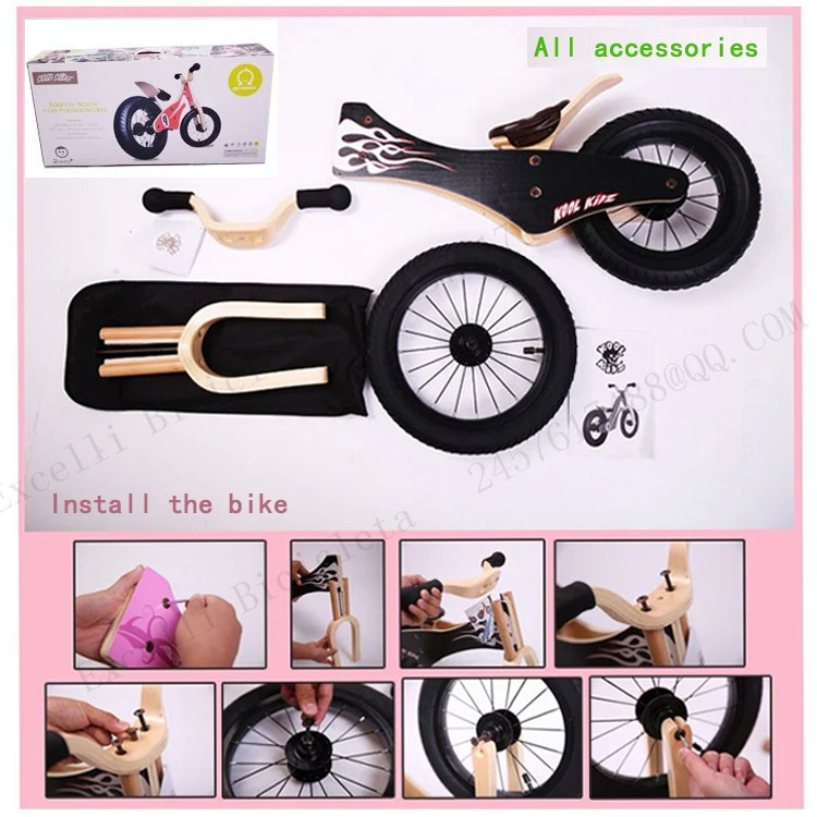 b26-Baby two wheels Wood Balance Bike for 2-6 Years age Bicicleta Infantil Balance Bike Kid's bicycle Common Childen's Cycling