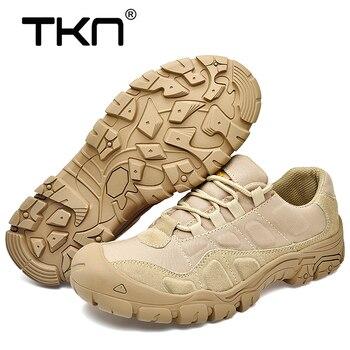 TKN Im Freien Männer Wanderschuhe Wasserdicht Atmungsaktiv Taktische Kampf Armee Stiefel Wüste Ausbildung Turnschuhe Anti Slip Trekking Schuhe