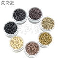 H.P.W. NEW 3.0mm NANO Ring COPPER SILICONE High quality Beads nano hair extension tools 7Colors available 500Pieces/jar