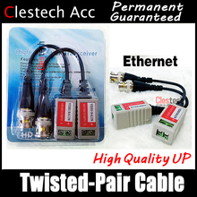 1pcs/lot Passive twisted-pair transmitter 300 meters anti-interference video transmitter monitoring video BNC cable connector 5pairs cctv balun twisted pair transmitter passive video balun