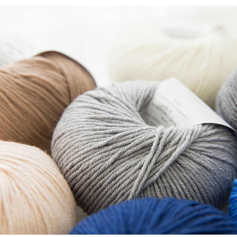 100% Benang Wol Merino Rajut Tangan Bayi Anak Lembut Tebal Benang untuk Merajut Benang Tangan Merajut Syal Kaus Kaki Cashmere Yarn worsted