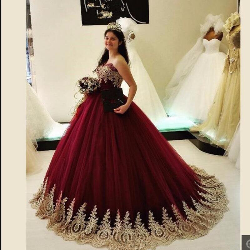 Vestidos Debutante Vestido de 15 anos Burgundy Quinceanera Dresses Ball Gown 2019 Sweet 16 Dresses Princess