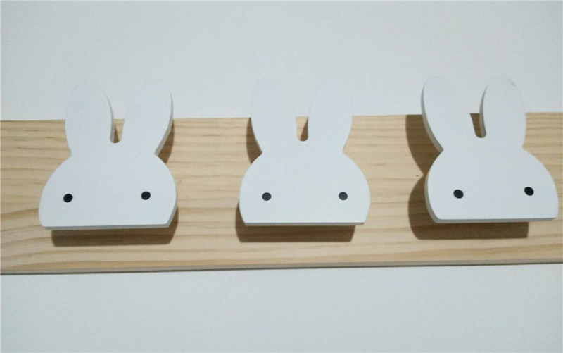 Kids Bedroom Furniture Kids Wooden Toys Online: Nordic Modern Kids Bedroom Decor Rabbit Bat Wooden Wall