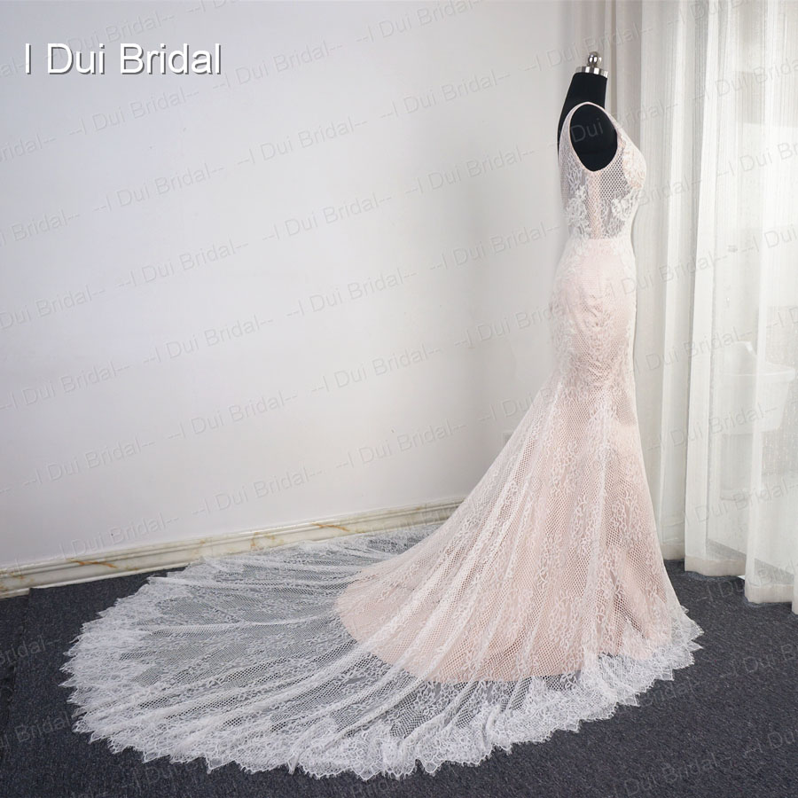 Back To Search Resultsweddings & Events The Best Halter Button Front Wedding Dresses Lace Top Chiffon With Belt Real Photo Factory Custom Made Els007