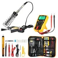 D60 Soldering Iron Kit With Adjustable Temperature Welding Tool Multifunctional Hand Tool Sets LCD Screen Digital Multimeter
