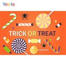 Фон для фотосъемки yeele Хэллоуин паук конфеты трюк или лечение