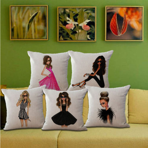 wholesale wedding decor high quality party gift decor home sofa pillowcase Fashionable City Girl car office cushion cover