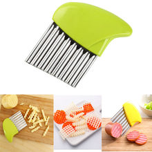 FUNBAKY Crinkle French Fries Cutter Potato Peeler Vegetable Fruit Wavy Edged Knife Rebanador For Kitchen Tools Acessories(China)