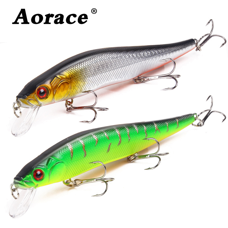 1Pcs 14cm 22.7g Topwater wobbler 3D Eyes Fishing Lure Minnow Hard Bait 3 fish Hooks Crankbait Floating Fishing Tackle