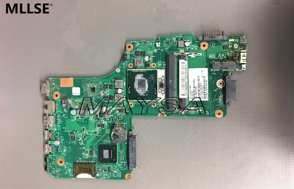 все цены на  V000275540 Fit For Toshiba Satellite C850 C855 Laptop Motherboard DK10F-6050A2541801-MB-A02 PGA989 SJTNV HM70 DDR3 100% Tested  онлайн