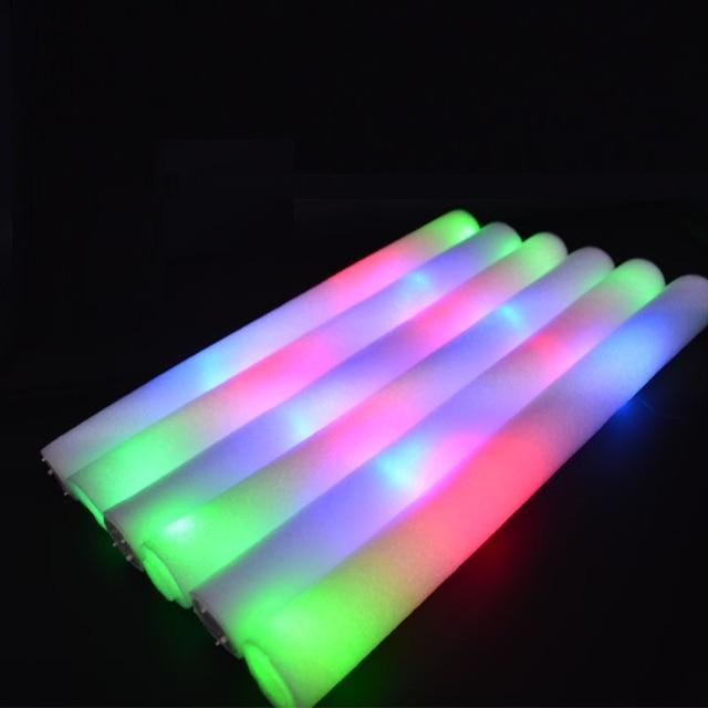 16 Inch Flashing Led Foam Sticks Tube Light Up Glow Wand