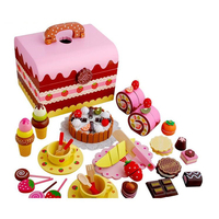 Wooden Strawberry Handmade Cake Sweet Princess Afternoon Tea Chocolate Party Children S Simulation Toy Birthday Gift