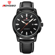 LONGBO Luxury Brand Men Watch Military Geniune Leather Quartz Watch Men s Date Calendar Sport Wristwatch