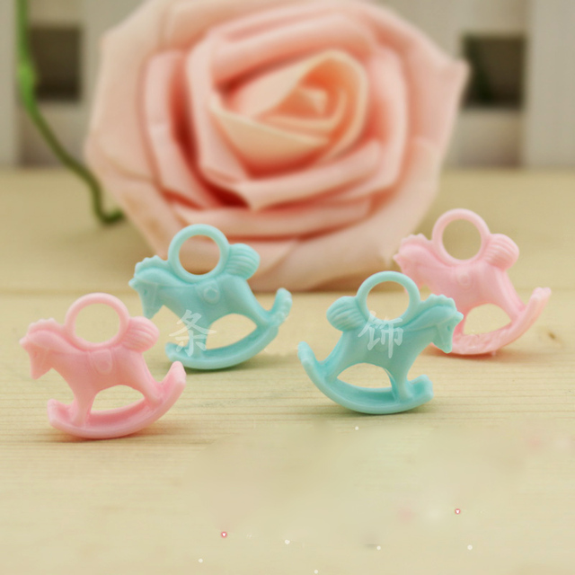 20pcs Acrylic Rocking Horse Charms Birthday Party Decoration Kids