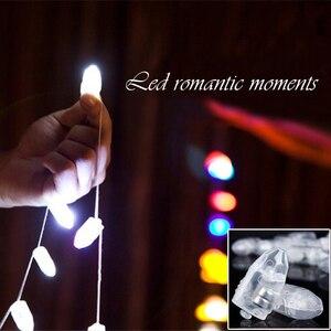 Image 2 - 100 pçs/lote led balão lâmpada led luz azul vermelho branco aniversário casamento ballons bar decoração interruptor de luz balão incandescente