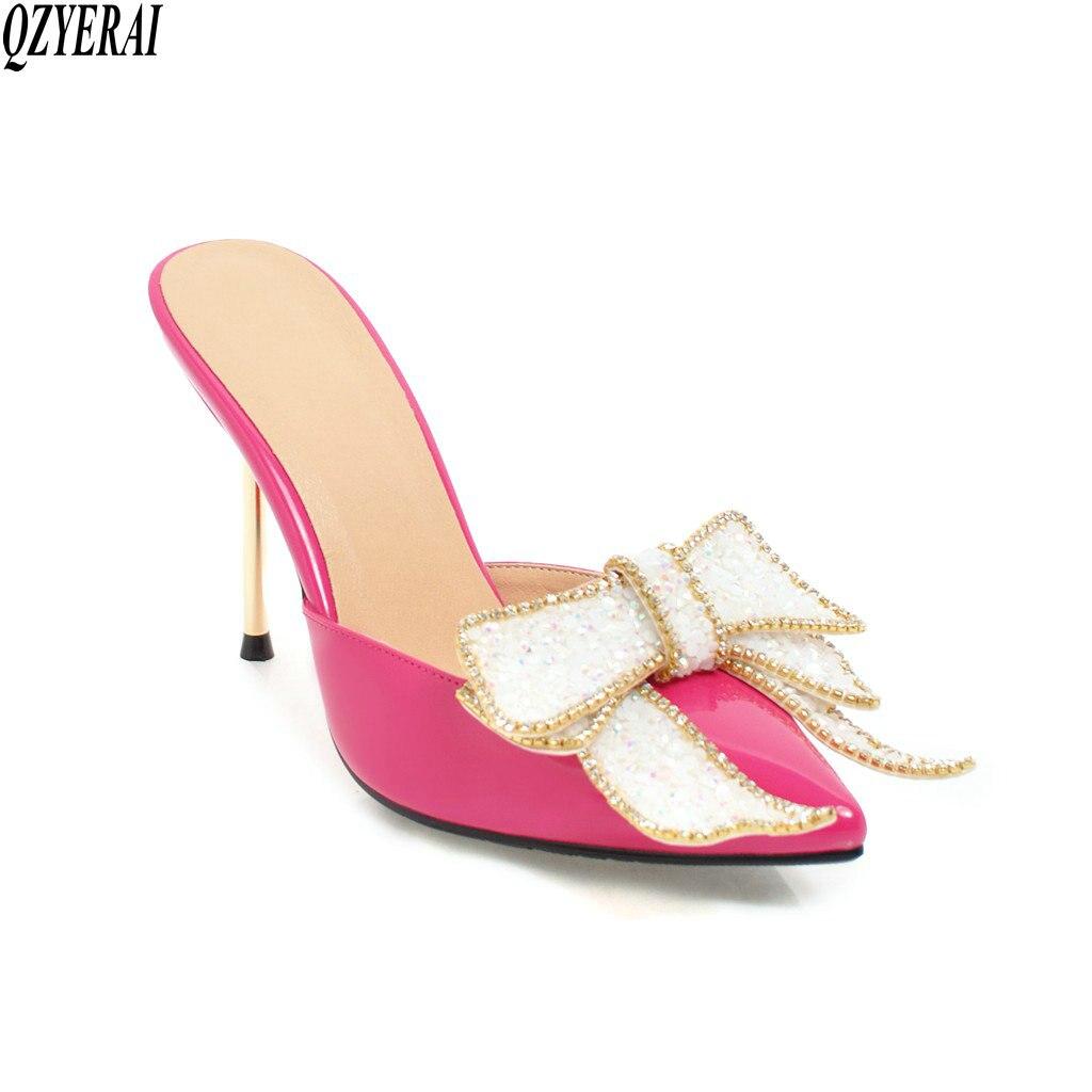 De Chaussures Partie European Nouveau Noir Femmes American blanc rouge 2018 Style Pantoufles rose Bien Sexy argent Qzyerai Décontracté Et nwPkO0