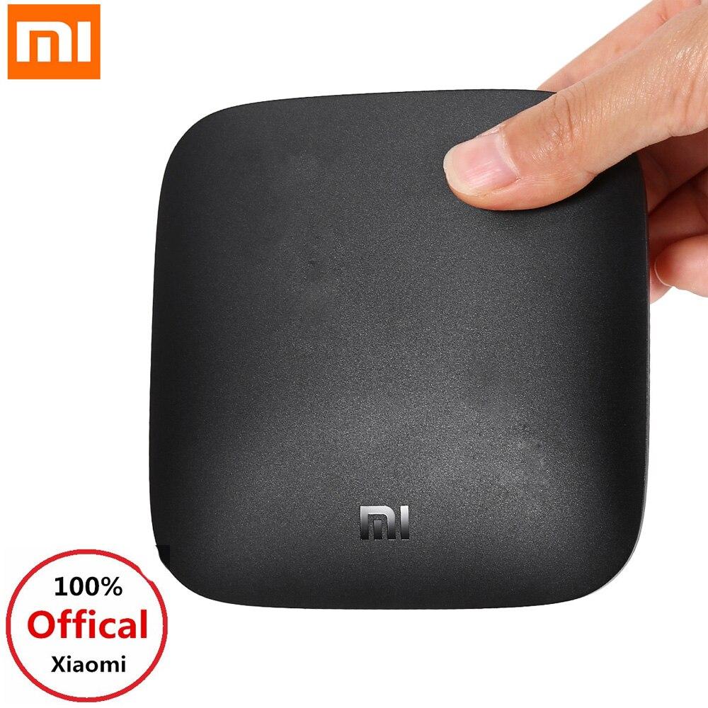 Xiao mi 3C TV Box 4 K 64bit reproductor multimedia Quad Core Amlogic S905 4 GB ROM Smart Android TV Box 5G WiFi Dolby DTS HD mi Set-Top Box