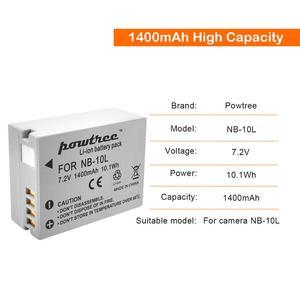 7,2 В 1400 мАч NB-10L NB10L NB 10L Аккумулятор для Canon G1X G15 G16 SX40HS SX50HS SX60HS SX40 SX50 SX60 HS Bateria
