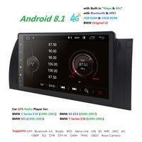 9''Big Screen 2GB RAM 16GB ROM Android 8.1 Quad 4 Core CAR STEREO for BMW E39 M5 X5 E53+HD 1024X600+DVR/WIFI+DSP+DAB+4G TPMS RDS