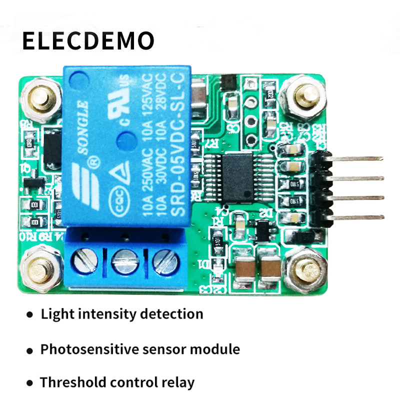 MAX44009 Photosensitive sensor Photoelectric relay module Light intensity detection Serial port computer-in Demo Board Accessories from Computer & Office