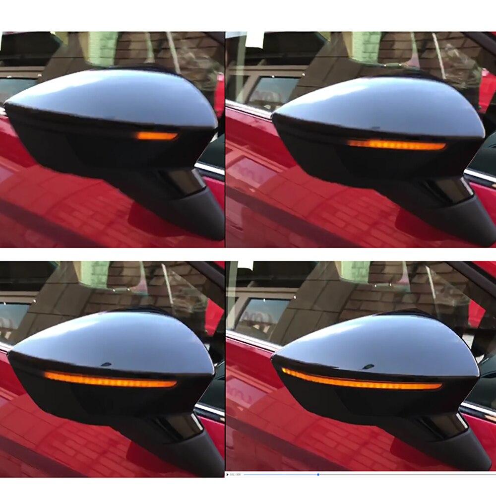 Clignotant dynamique LED clignotant rétroviseur latéral indicateur lumière séquentielle pour Seat Leon III 5F 2013-2018 Ibiza KJ 2018 Arona 2017