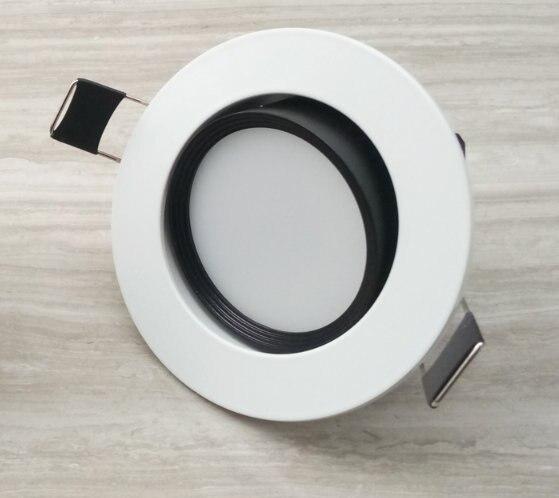 2017 Teto Luminaria Frete Grátis: Ac95-265v 1 pçs/lote Diodo Emissor de Luz, o Corpo branco E Prata Com Alto Brilho, frete Grátis