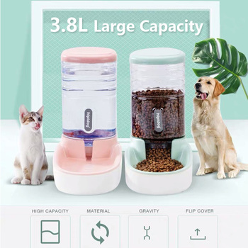 3.8L Pet Cat Automatic Feeders Large Capacity Cat Water Fountain Plastic Dog Water Bottle Feeding Bowls Water Dispenser For Cats
