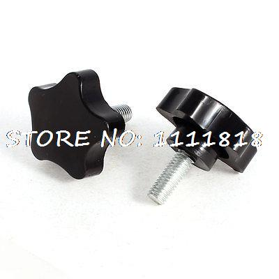 41mm Star Head Dia Replacement 5/16 Thread Clamping Screw Knob Grip 2 Pcs часы радо dia star
