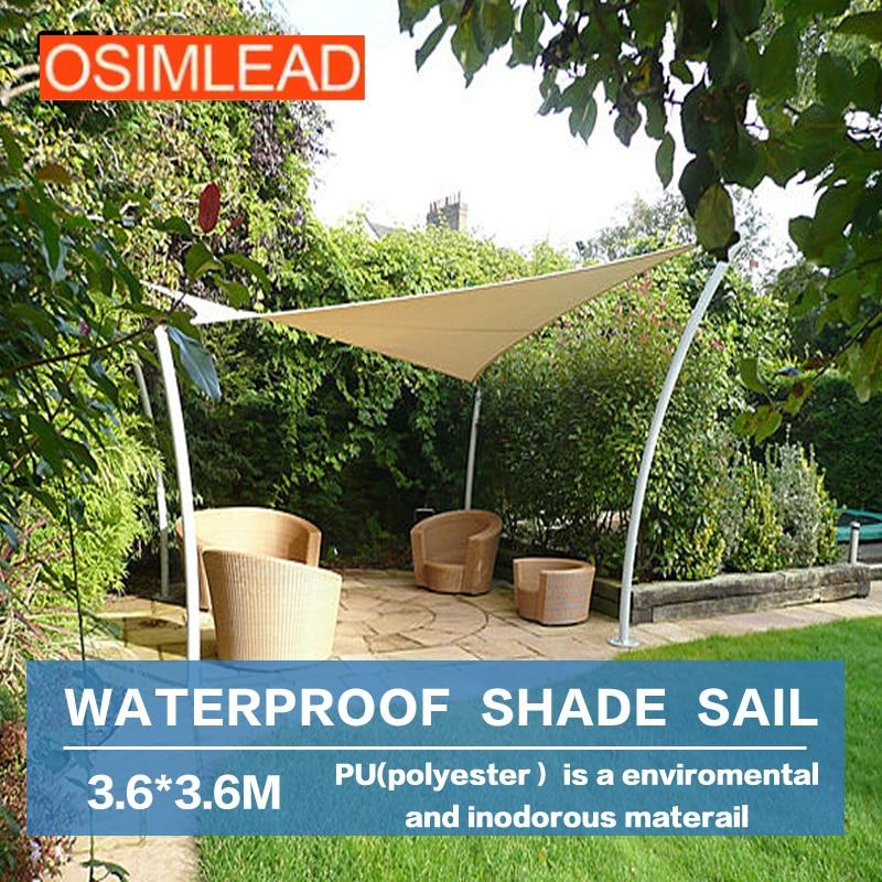 цена на Keep out ultraviolet (uv) 95% OSIMLEAD 3.6*3.6m 12'x12' waterproof sun shade sail