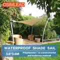 Keep out ultraviolet (uv) 95% OSIMLEAD 3.6*3.6m 12'x12' waterproof sun shade sail