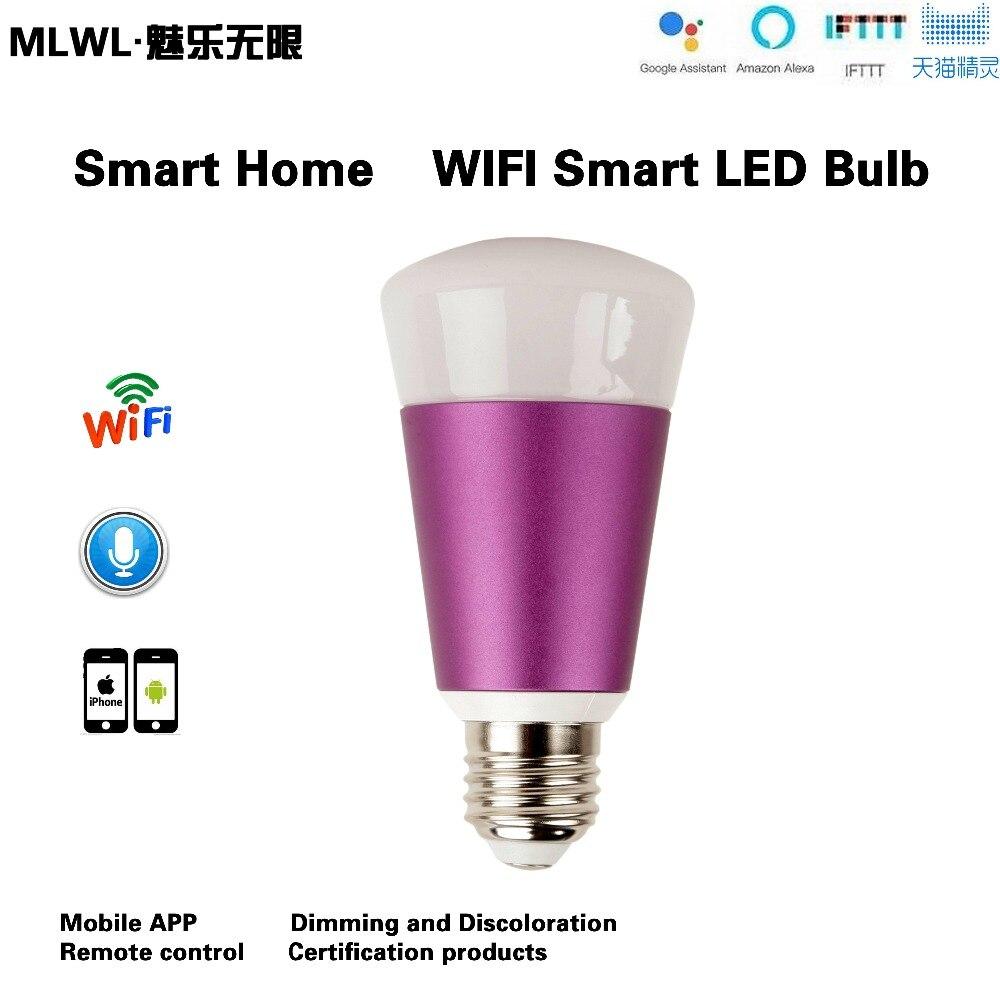 Купить с кэшбэком Smart WIFI Lighting Remote Control 3WRGB Led Bulb Light E27 7W LED Bulb