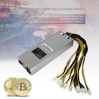 Стабильная производительность 1600 Вт тихий Шахтер Питание горные машины Питание подходит для Bitcoin Miner S7 L3 + D3 APW3 s9