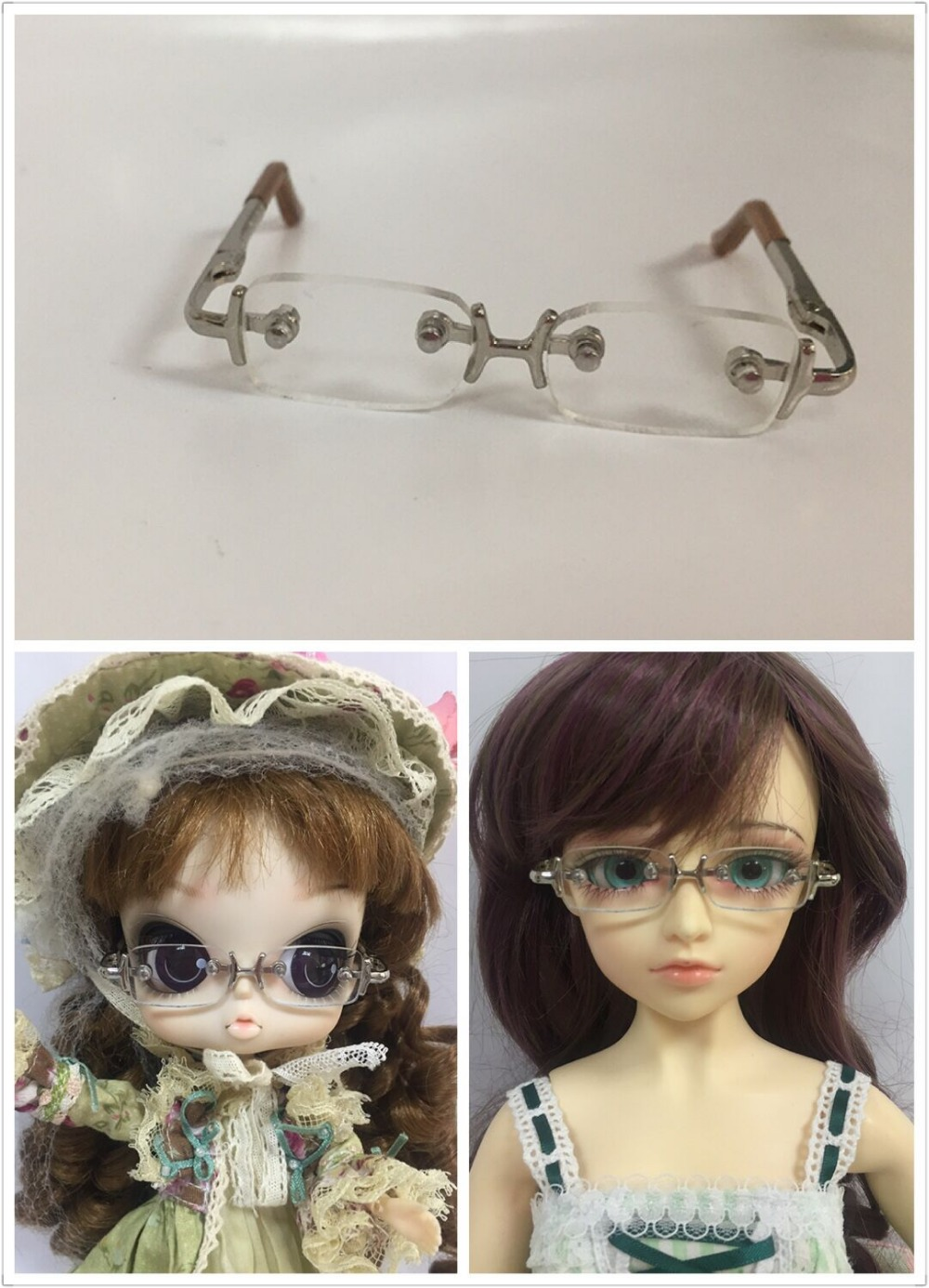 b3d9b852bec1a BdJD óculos boneca 6.5 cm, para 1 3 boneca BJD, pullip 0621 em Bonecas de  Brinquedos no AliExpress.com   Alibaba Group