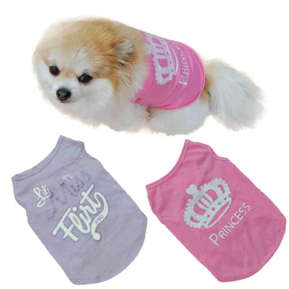 Con chó Vest T Áo Sơ Mi Chihuahua Nhỏ Cát Pet Quần Áo Ropa De Verano Para Perros Vương Miện Mùa Hè In Con Chó Quần Áo tốt nhất quà tặng