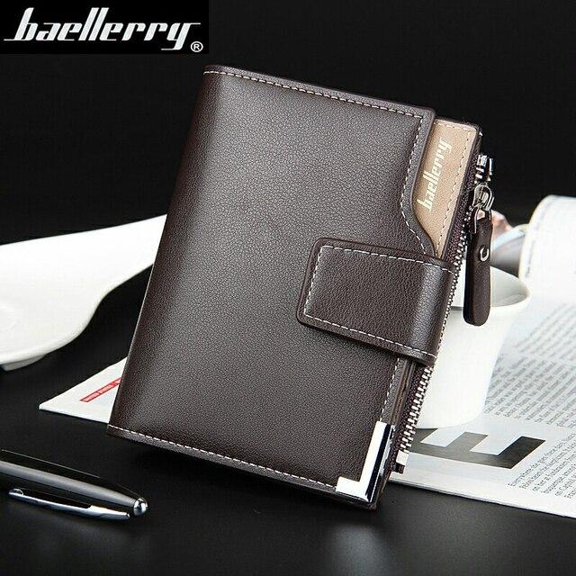 Wallet men genuine leather men wallets purse short male clutch leather wallet mens Baellerry brand  money bag quality guarantee